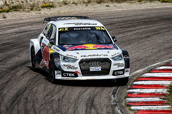 10 EKSTROM Mattias (SWE) Audi S1 quattro EKS action during the 2015 FIA World Rallycross Championship from July 03rd to 05th 2015, at Höljes, Sweden. Photo Jorge Cunha / DPPI