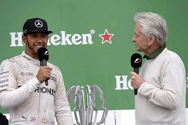 HAMILTON Lewis (gbr) Mercedes GP MGP W07 ambiance portrait - Michael Douglas - podium ambiance during the 2016 Formula One World Championship, Grand Prix of Canada from June 10 to 12 in Montreal - Photo Eric Vargiolu / DPPI