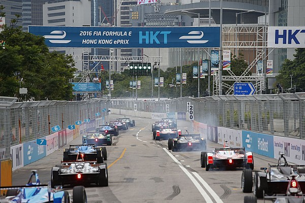 depart start grille de depart starting grid during the 2017 Formula E championship, at Hong Kong, from october 7 to 9 2016 - Photo Frederic Le Floc'h / DPPI