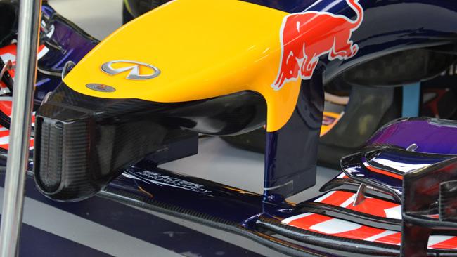 La Red Bull con il muso dotato di
