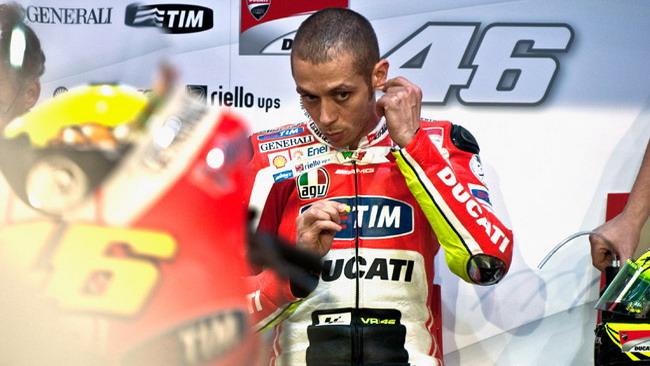 Rossi e la spalla: