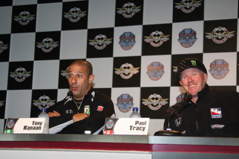 Tony Kanaan i Paul Tracy | Fot. Chris Jones