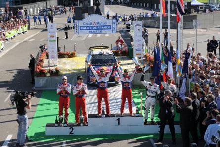 Podium Rallye de France | Fot. McKlein