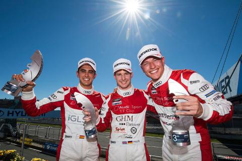 Podium na Nürburgringu | Fot. Audi Sport