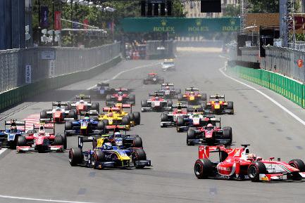 Start w Baku | Fot. FIA F2
