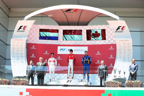 Podium w Baku | Fot. FIA F2