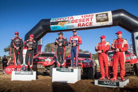 Podium Toyota 1000 Desert Race | Fot. Facebook