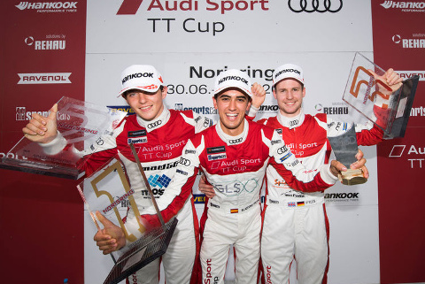 Podium na Norisringu   Fot. Audi Sport
