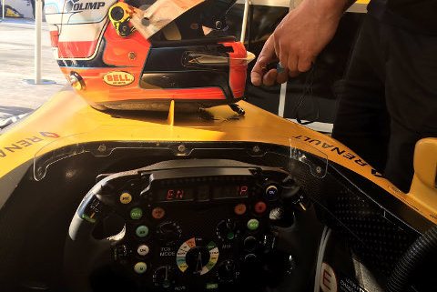 Kask Roberta Kubicy | Fot. Renault Sport F1 Team