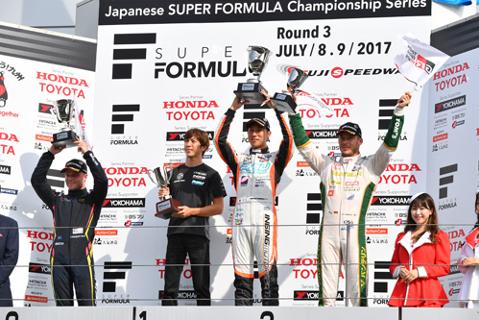 Podium na Fuji Speedway | Fot. superformula.net