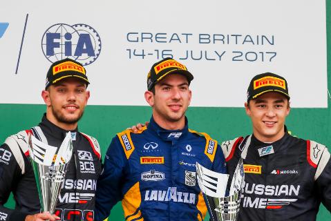 Podium na Silverstone | Fot. FIA F2
