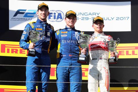 Podium na Hungaroringu | Fot. FIA F2