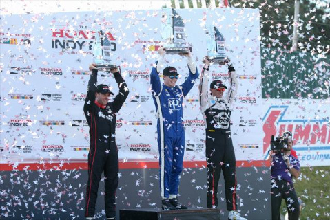 Podium Honda Indy 200 | Fot. indycar.com