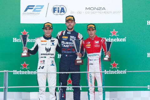 Podium na Monzy   Fot. FIA F2