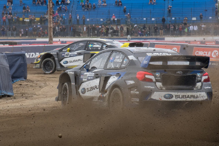 Patrik Sandell i Chris Atkinson | Fot. Subaru Rally Team USA