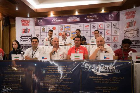 Konferencja prasowa przed Shiraz Rally | Fot. Racing 21