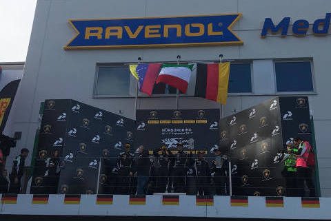 Podium na Nürburgringu | Fot. Kisiel Racing