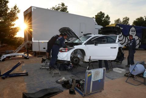 Testy Andreasa Mikkelsena | Fot. Hyundai Motorsport