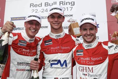 Podium na Red Bull Ringu | Fot. Audi Sport