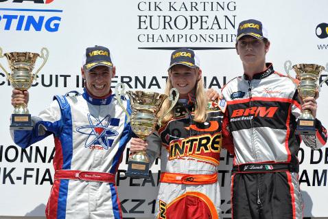 Podium KZ2 | Fot. CIK-FIA
