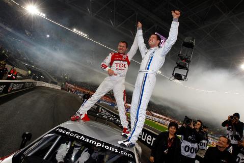Tom Kristensen i Sebastien Ogier | Fot. raceofchampions.com