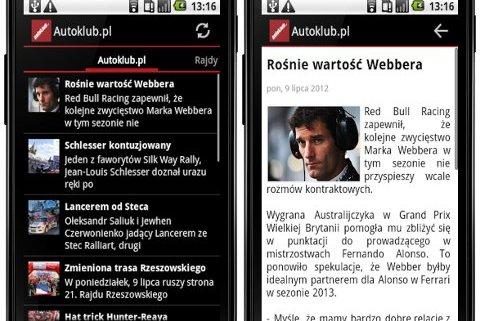 Autoklub.pl na platformę Google Android.