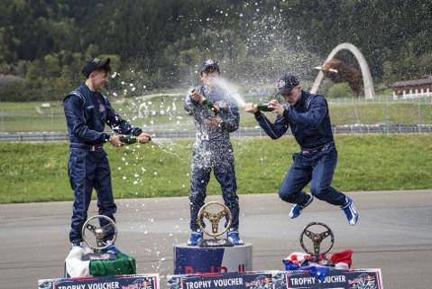 Podium Red Bull Kart Fight