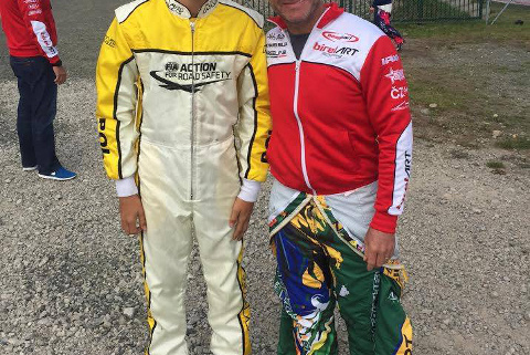 Maciej Szyszko i Rubens Barrichello   Fot. Facebook