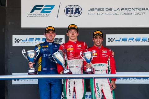 Podium w Jerez | Fot. FIA F2