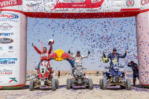 Quadowe podium Rallye OiLibya du Maroc