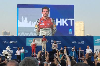Podium w Hongkongu   Fot. Audi Sport