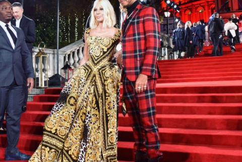 Donatella Versace i Lewis Hamilton | Fot. Twitter
