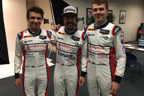 Lando Norris, Fernando Alonso i Phil Hanson   Fot. United Autosports