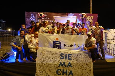 Kamil Wiśniewski na mecie Dakaru | Fot. Sonik Team