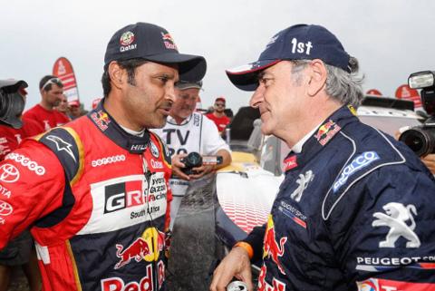 Nasser al-Attiyah i Carlos Sainz | Fot. DPPI