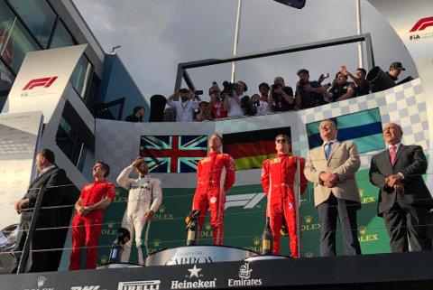 Podium w Melbourne | Fot. Ferrari