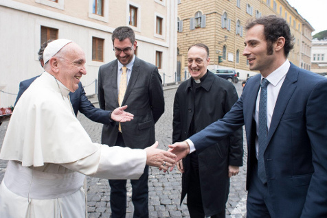 Papież Franciszek i Luca Filippi