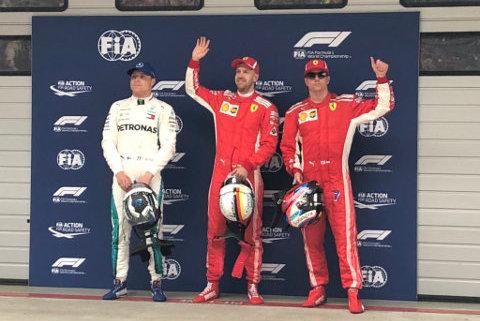 Top 3 w kwalifikacjach GP Chin   Fot. Ferrari