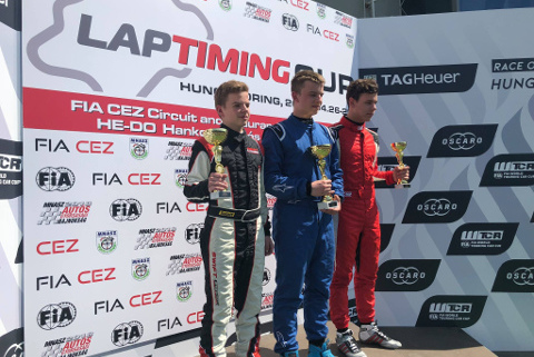Podium na Hungaroringu | Fot. Swift Cup Europe