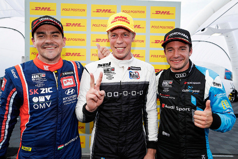 Norbert Michelisz, Thed Björk i Fred Vervisch | Fot. FIA WTCR