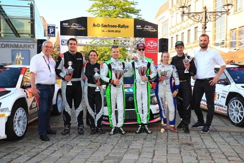 Podium Sachsen Rallye | Fot. ADAC