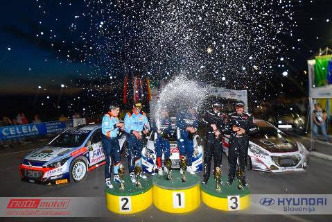 Podium Fuchs Rally Velenje   Fot. Facebook