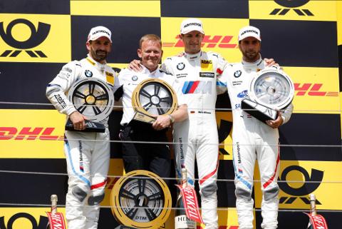 Podium na Hungaroringu | Fot. BMW Motorsport