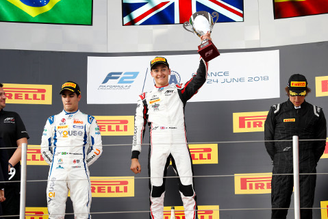 Podium na Paul Ricard   Fot. FIA F2