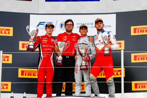 Podium na Paul Ricard | Fot. FIA F2