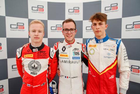 Nikita Mazepin, anthoine Hubert i Leonardo Pulcini | Fot. GP3