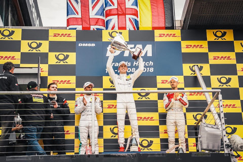 Podium w Brands Hatch | Fot. Mercedes
