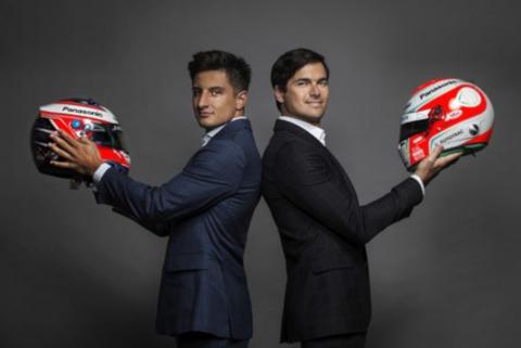 Mitch Evans i Nelson Piquet Jr | Fot. Jaguar Racing