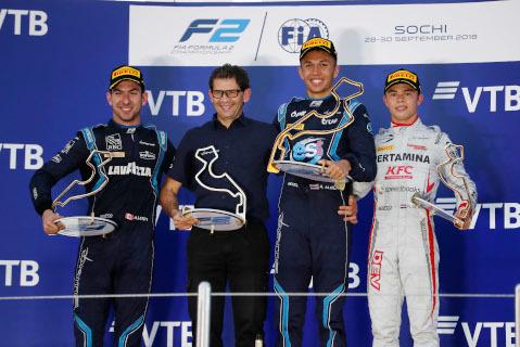 Podium w Soczi | Fot. FIA F2
