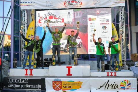 Podium Raliul Sibiului | Fot. Napoca Rally Academy